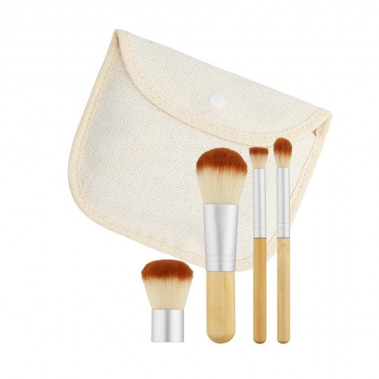 MIMO by Tools For Beauty, Set 4 Pinceaux Maquillage Travel Size - 1