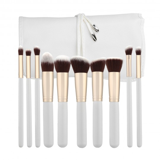 MIMO by Tools For Beauty, Set 10 Pinceaux A Maquillage Blanc