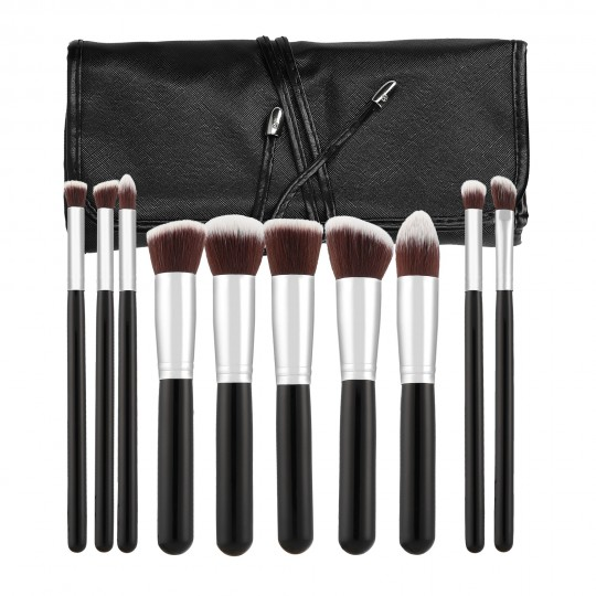 MIMO by Tools For Beauty, Set 10 Pinceaux A Maquillage Noire - 1