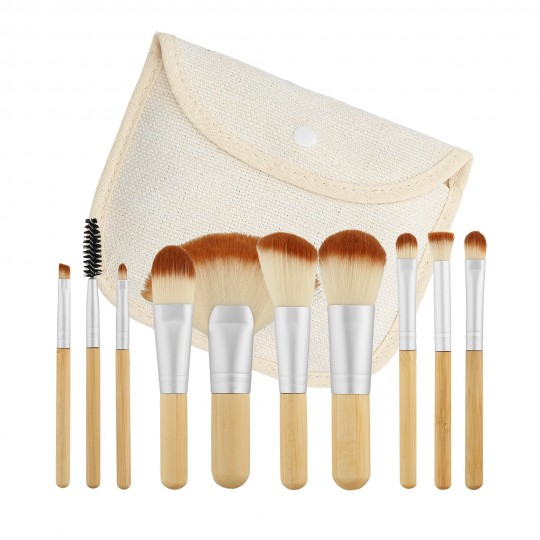 MIMO by Tools For Beauty, Set 10 Pinceaux Format Voyage - 1