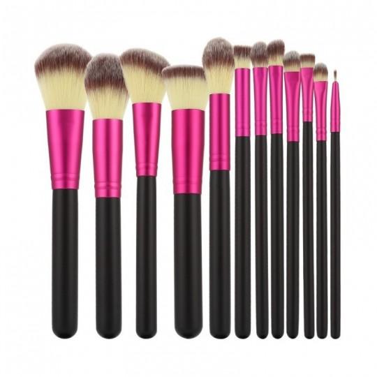 Kit 12 pinceaux à maquillage