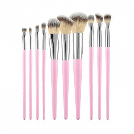 MIMO by Tools For Beauty, Kit De 10 Pinceaux De Maquillage Rose - 1