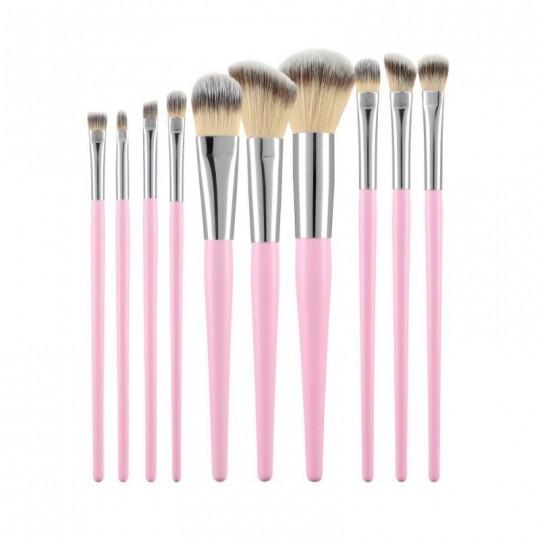 Kit de 10 pinceaux de maquillage