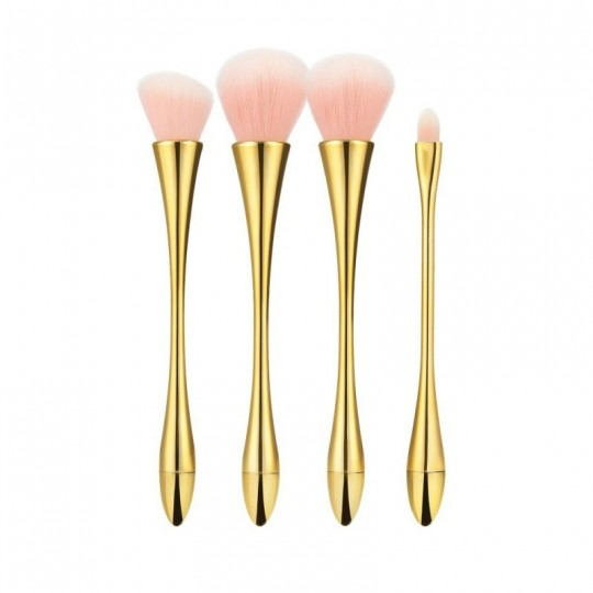 MIMO by Tools For Beauty, Set 12 Pinceaux A Maquillage Marron