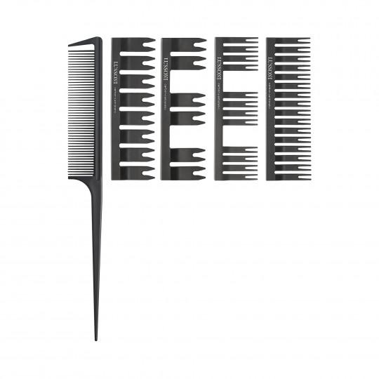 LUSSONI by Tools For Beauty, DC 500 Set Peigne: Peigne avec queue + 4 pièces interchangeables