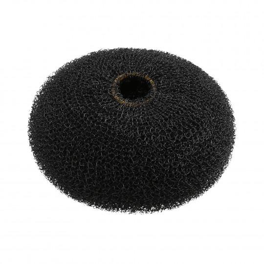 LUSSONI HR ACC HAIR BUN RING BLACK 90MM