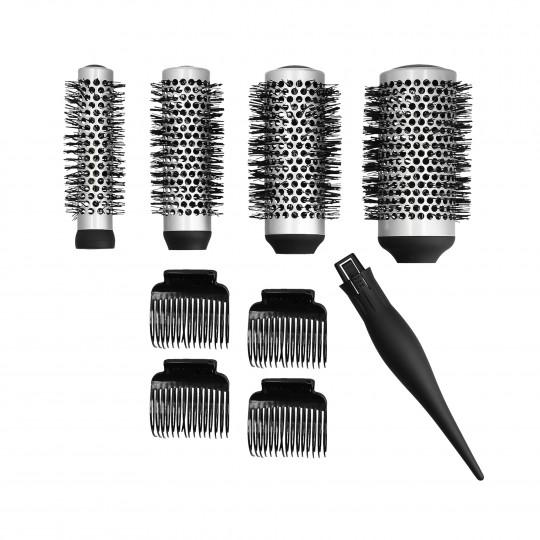 LUSSONI by Tools For Beauty, Set de 4 brosse de styling interchangéable + 4 clips