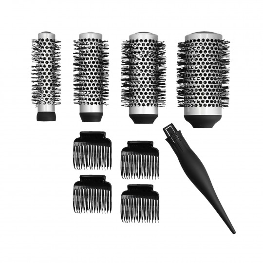 LUSSONI by Tools For Beauty, Set de 4 brosse de styling interchangéable + 4 clips