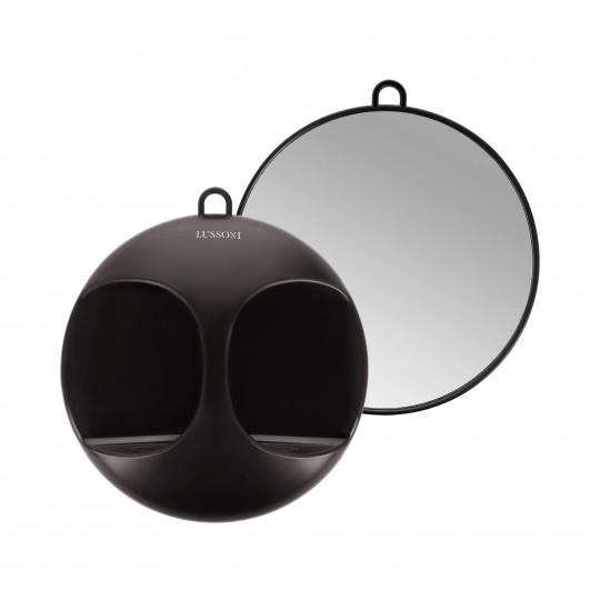 LUSSONI by Tools For Beauty, Miroir rond pour coiffeur, Noir Ø 29 cm - 1