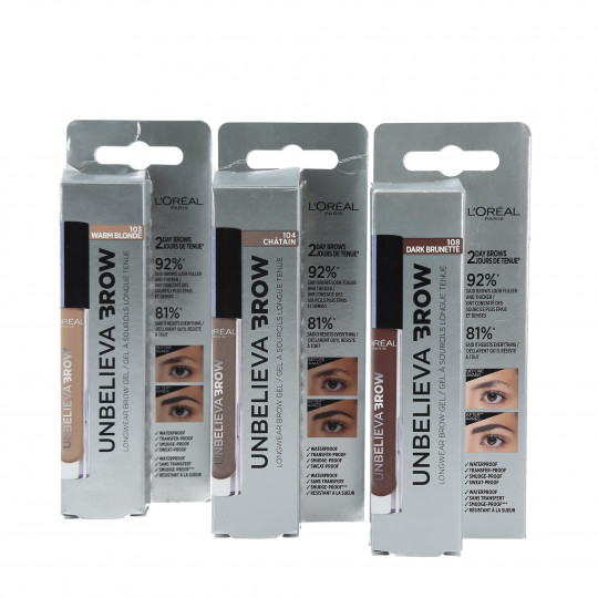 L'OREAL PARIS Unbelieva Brow Gel pour sourcils