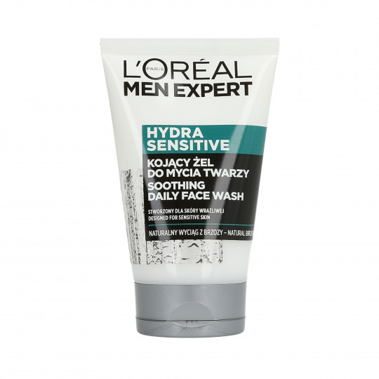 L'OREAL PARIS MEN EXPERT Hydra Sensitive Gel nettoyant visage 100 ml - 1
