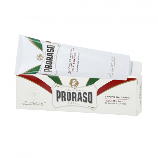 PRORASO WHITE Savon à barbe apaisant en tube 150ml