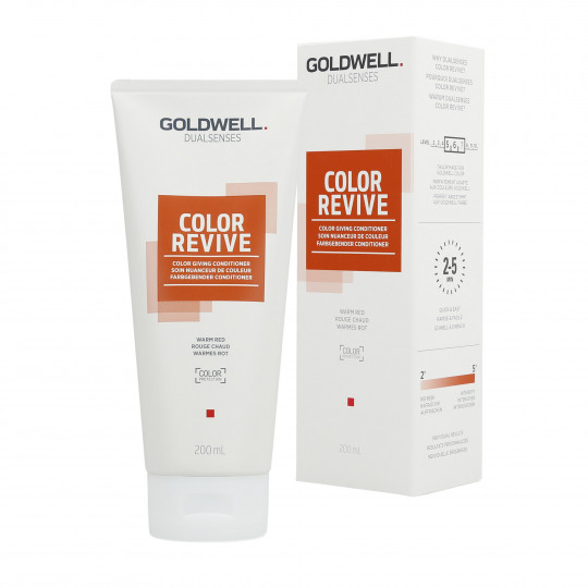GOLDWELL DUALSENSES COLOR REVIVE Soin Nuanceur de Couleur Warm Red 200 ml - 1
