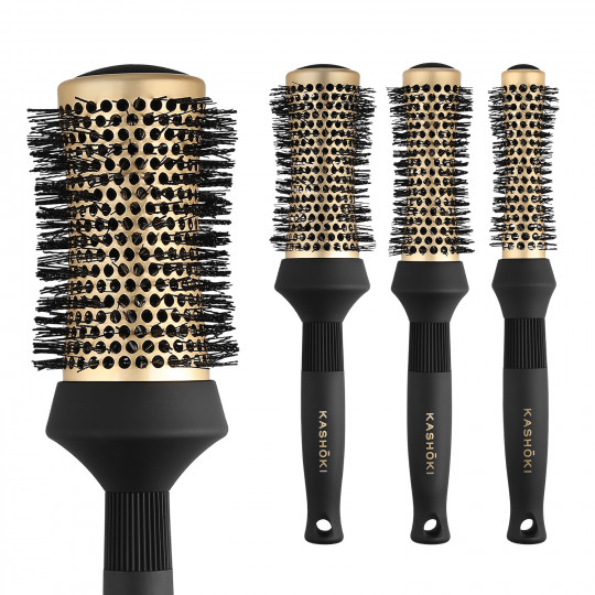 Kashōki by Tools For Beauty, Timeless Beauty Set de Brosses Rondes à cheveux 4 Pcs