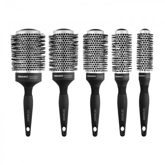 Lussoni Care&Style Set de Brosse Ronde à Cheveux Professionnelle 5 Pcs