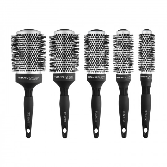 LUSSONI by Tools For Beauty, Care&Style - Set de Brosses Rondes à Cheveux 5 Pcs