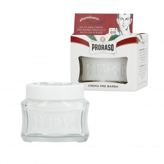 PRORASO WHITE Crème Avant Rasage apaisante 100 ml - 1