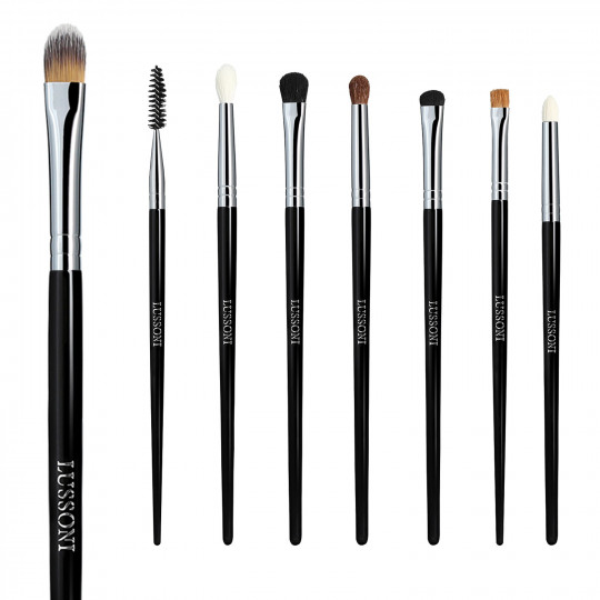 LUSSONI by Tools For Beauty, Smokey Eye - Set de Pinceaux à maquillage professionnels 8 Pcs - 1