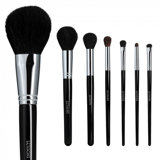 LUSSONI by Tools For Beauty, Natural Smoothness - Set de Pinceaux à maquillage professionnels 7 Pcs - 1