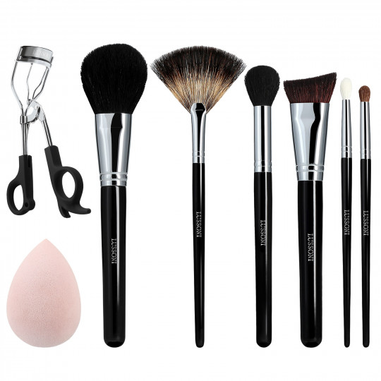 LUSSONI Glow Maker 8 Pcs Professional Makeup Brush Set