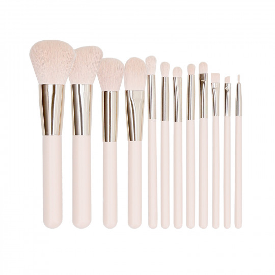 MIMO by Tools For Beauty, Set De 12 Pinceaux A Maquillage Rose - 1