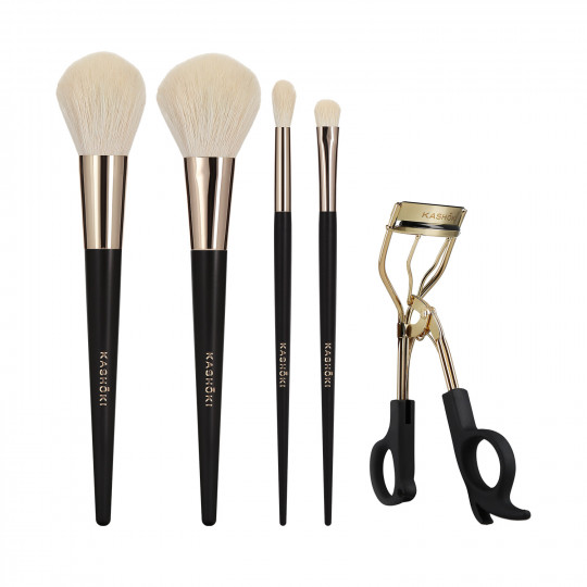 Kashōki by Tools For Beauty, ONIYURI Set de 5 pcs Pinceau à maquillage avec recourbe-cils - 1