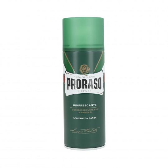 PRORASO GREEN Mousse à raser rafraîchissante 400ml - 1
