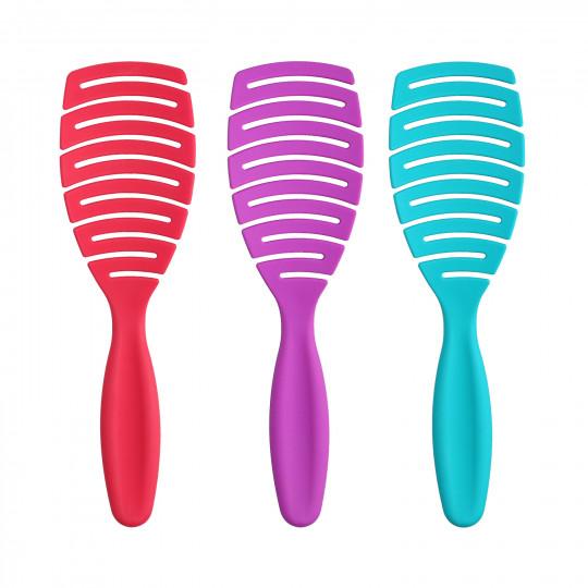 ilū by Tools For Beauty, My Happy Color 3 Pcs Set Brosses à Cheveux