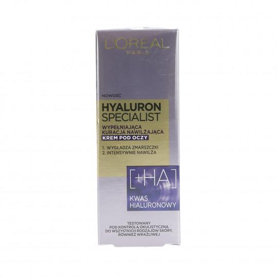 L'OREAL PARIS HYALURON SPECIALIST Crème hydratante yeux 15ml - 1