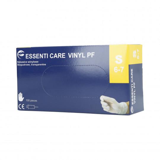 EKO-HIGIENA Gants en vinyle blanc non poudrés taille S 100pcs