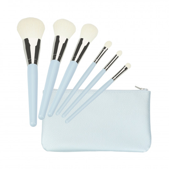 MIMO by Tools For Beauty, 6 pcs pinceau de maquillage Set, bleu