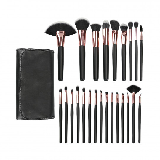 MIMO by Tools For Beauty, 24 pinceaux de maquillage Set, noir