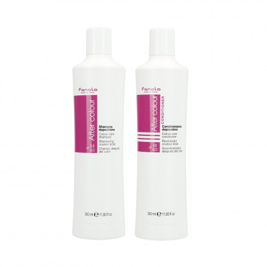 FANOLA AFTER COLOUR SHAMPOO350ML+CON350ML SET