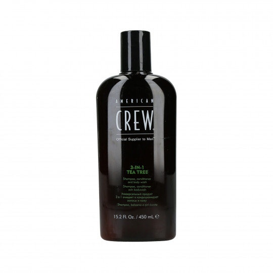 AMERICAN CREW 3-IN-1 TEA TREE Shampooing, soin et gel douche 450ml - 1