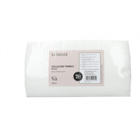 LUSSONI by Tools For Beauty, Serviette en cellulose, BASIC 70 cm x 40 cm, 100 pcs