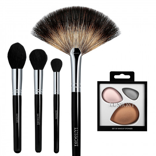 LUSSONI Classy Girl 5 Pcs Professional Makeup Brush Set