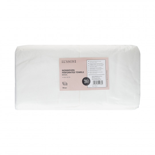 LUSSONI by Tools For Beauty, Serviette en tissu non-tissé perforé, BASIC, 70 cm x 50 cm, 100 pcs - 1