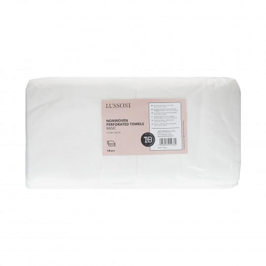 LUSSONI by Tools For Beauty, Serviette en tissu non-tissé perforé, BASIC, 70 cm x 50 cm, 100 pcs
