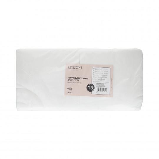 LUSSONI by Tools For Beauty, Serviette en tissu non-tissé, BASIC EXTRA, Lisse, 70 cm x 50 cm, 100 pcs