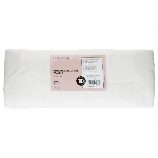 LUSSONI by Tools For Beauty, Serviette en cellulose pour pédicure, 50 cm x 40 cm, 100 pcs - 1