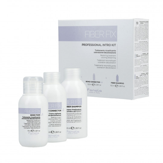 FANOLA FIBER FIX Kit d'introduction professionnel Bond Fixer 70ml + Bond Connector 100ml + shampoing 100ml - 1