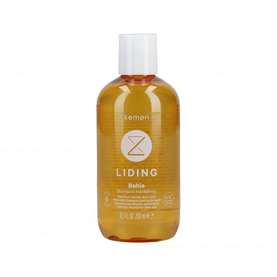 KEMON LIDING BAHIA Shampooing rafraîchissant après-soleil pour les cheveux et le corps 250ml - 1