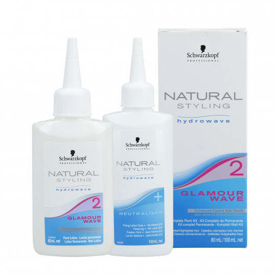 SCHWARZKOPF PROFESSIONAL NATURAL STYLING Glamour Wave 2 Set Lotion permanente 80 ml + Fixateur 100 ml - 1
