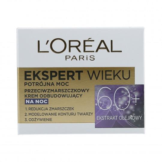L'OREAL PARIS Crème de nuit régénérante anti-rides 60+ 50 ml - 1