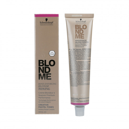 SCHWARZKOPF PROFESSIONAL BLONDME Blond Enforcing Blonde Toning Crème blondeur à nuancer Premium Performance 60ml - 1