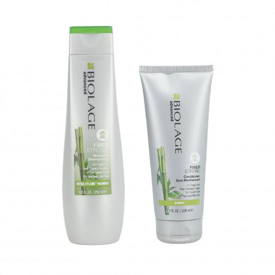 BIOLAGE FIBERSTRONG Set Shampooing 250 ml + Conditionneur 200 ml pour cheveux faibles - 1