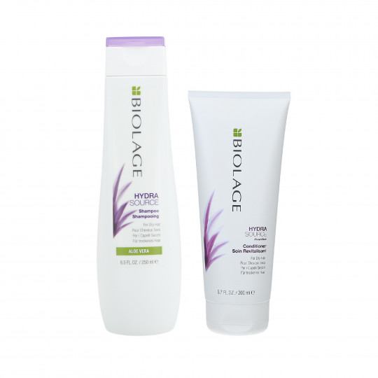 BIOLAGE HYDRASOURCE Set Shampooing 250ml + Conditionneur 200ml pour cheveux secs - 1