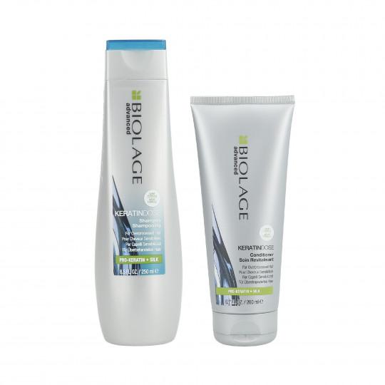 BIOLAGE KERATINDOSE Set Shampooing 250 ml + Conditionneur 200 ml pour cheveux abîmés - 1
