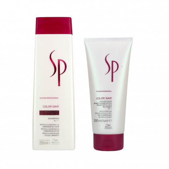 WELLA SP COLOR SAVE Set Shampooing 250ml + Conditionneur 200ml pour cheveux colorés - 1