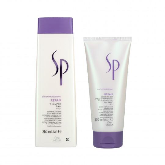 WELLA SP REPAIR Set Shampooing 250ml + Conditionneur 200ml pour cheveux abîmés - 1